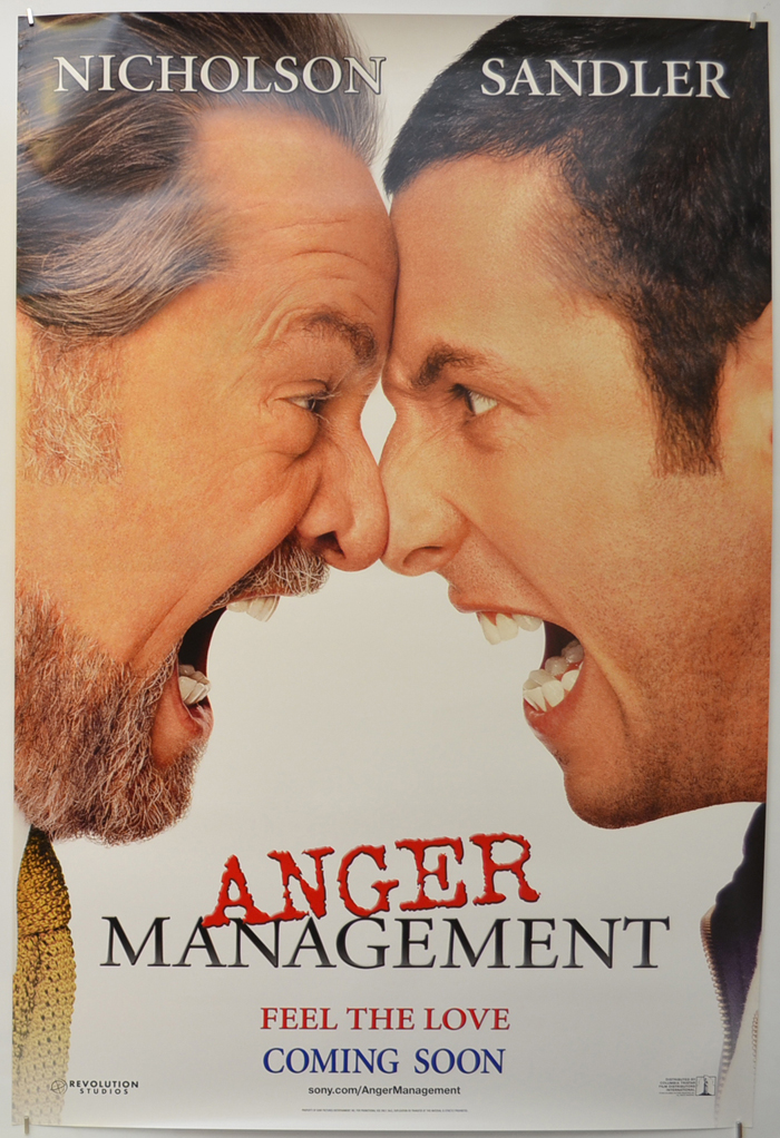 Anger Management Original Cinema Movie Poster From Pastposters Com British Quad Posters And Us 1 Sheet Posters
