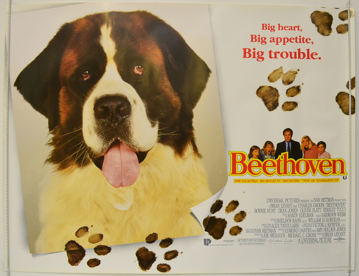 Beethoven - Original Cinema Movie Poster From pastposters.com ...