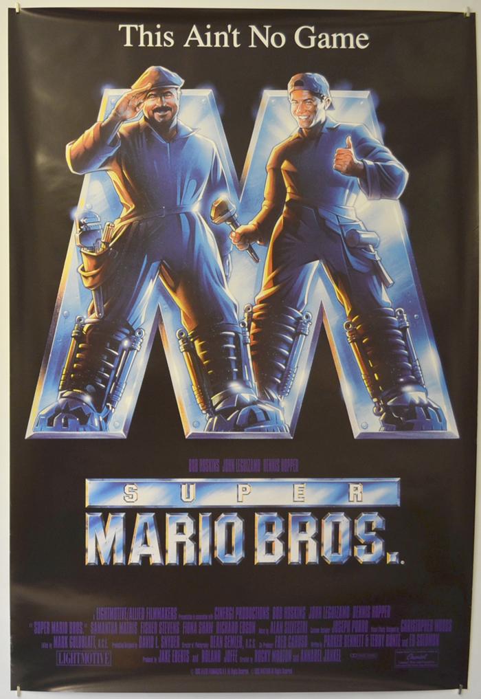 Super Mario Bros Original Cinema Movie Poster From Pastposters