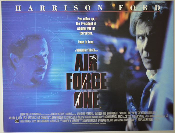 Air Force One - Original Cinema Movie Poster From pastposters.com ...