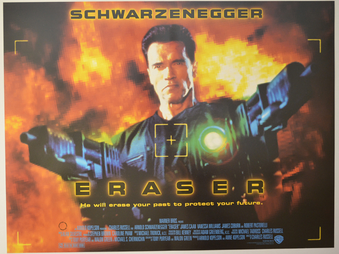 Eraser Original Cinema Movie Poster From Pastposters Com British Quad Posters And Us 1 Sheet Posters