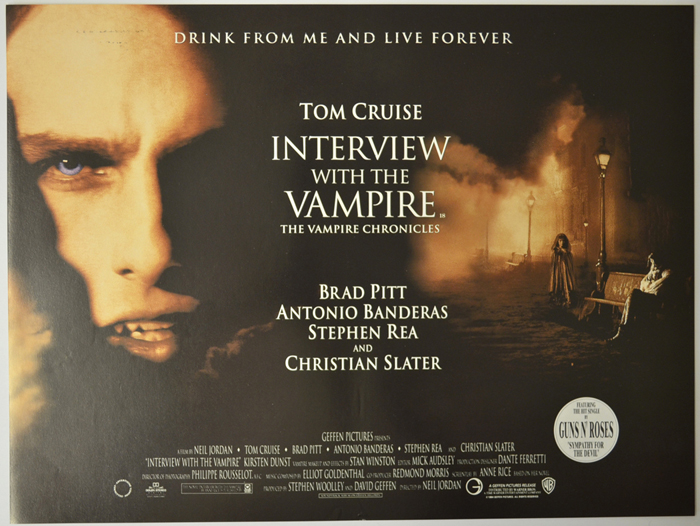 Interview With The Vampire - Original Cinema Movie Poster From ...