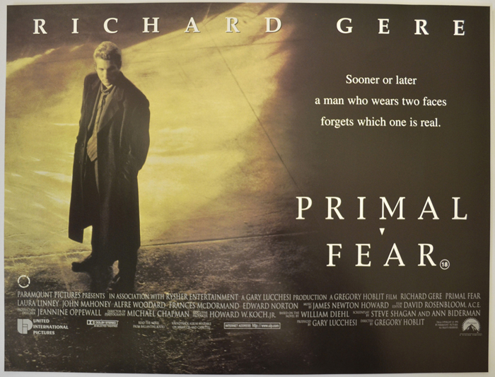 Primal Fear - Original Cinema Movie Poster From pastposters.com ...