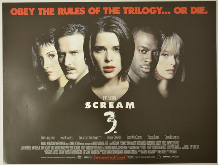 Scream 3 - Original Cinema Movie Poster From pastposters.com ...