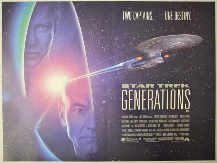 Star Trek : Generations - Original Cinema Movie Poster From ...