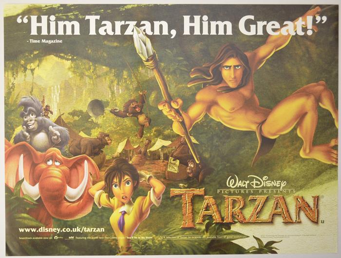 Tarzan - Original Cinema Movie Poster From pastposters.com British ...