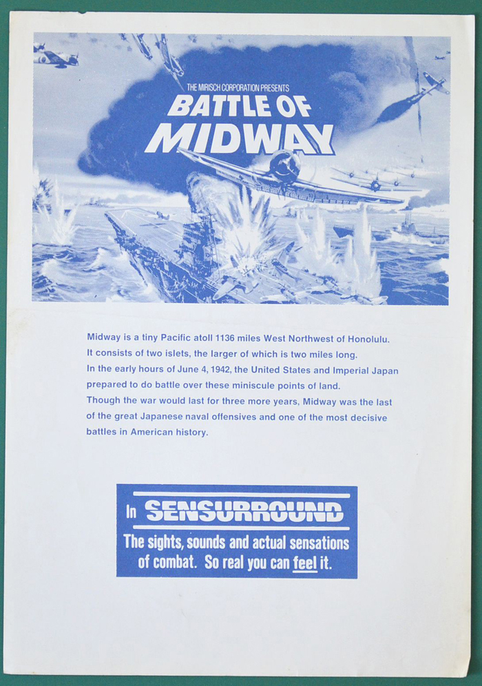 Battle Of Midway (The) <p><i> Original Cinema Synopsis / Credits Sheet</i></p>