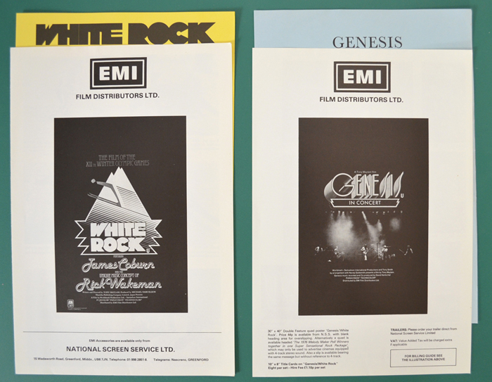 White Rock / Genesis In Concert <p><i> Original Cinema Exhibitors
