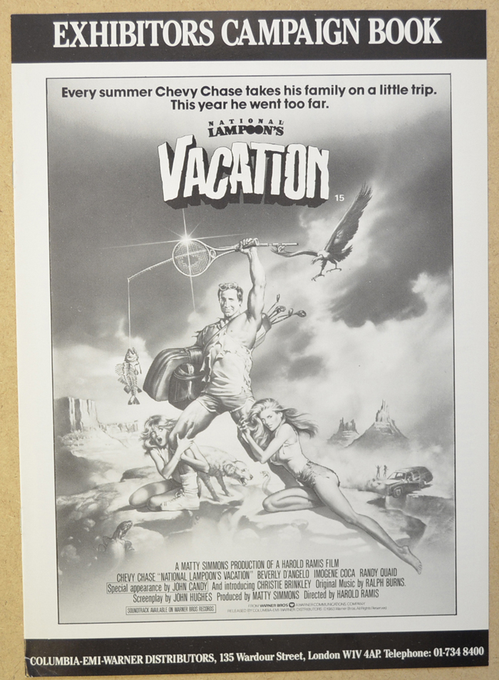 National Lampoon's Vacation <p><i> Original 8 Page Cinema Exhibitors Campaign Press Book </i></p>