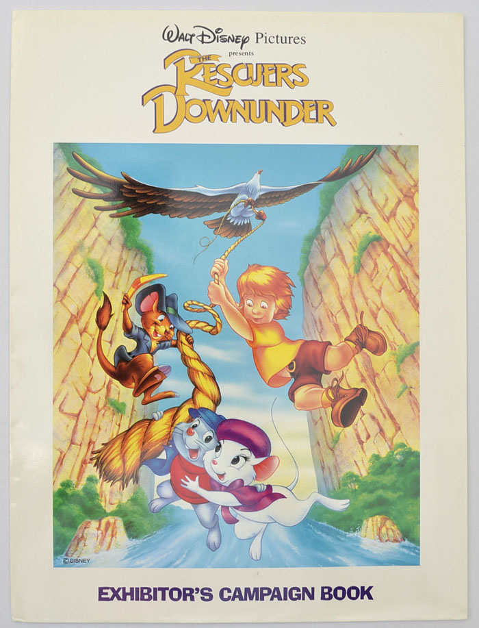 Rescuers Down Under (The) <p><i> Original 5 Sheet Cinema Exhibitors Campaign Press Book with Outer Folder </i></p>