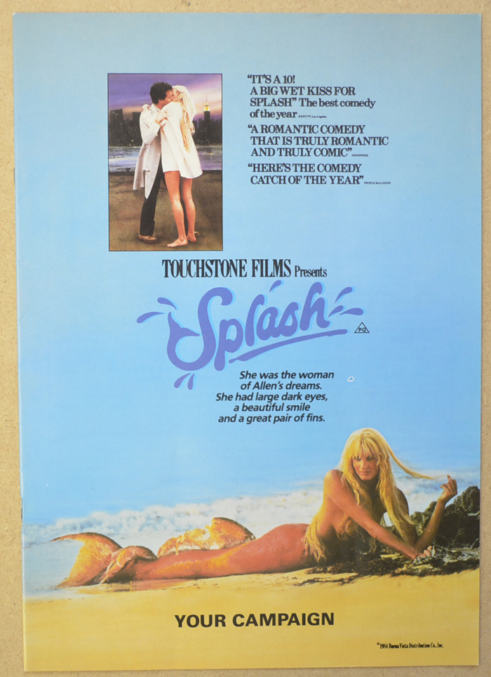 Splash <p><i> Original 12 Page Cinema Exhibitor's Campaign Press Book </i></p>