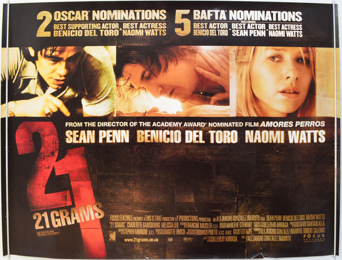 21 Grams - Original Cinema Movie Poster From pastposters.com ...