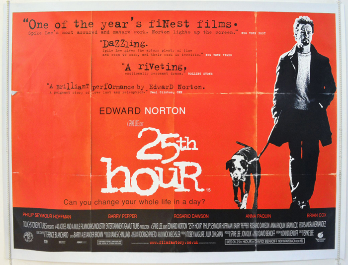 25th Hour - Original Cinema Movie Poster From pastposters.com British Quad  Posters and US 1-Sheet Posters