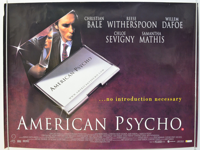 American Psycho - Original Cinema Movie Poster From pastposters ...