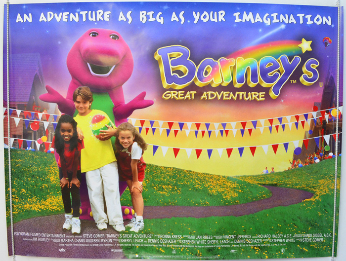 Barney S Great Adventure Original Cinema Movie Poster