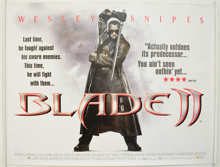 Blade II - Original Cinema Movie Poster From pastposters.com ...