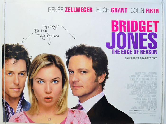 Bridget Jones : The Edge Of Reason - Original Cinema Movie Poster ...