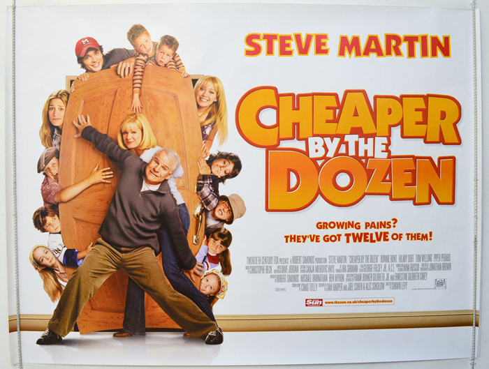 Cheaper By The Dozen - Original Cinema Movie Poster From ...