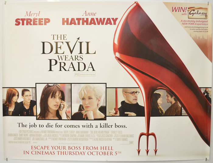 Devil Wears Prada (The) - Original Cinema Movie Poster From ...