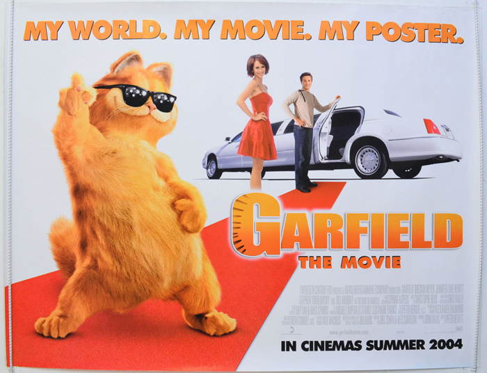 Garfield The Movie Original Cinema Movie Poster From Pastposters Com British Quad Posters And Us 1 Sheet Posters