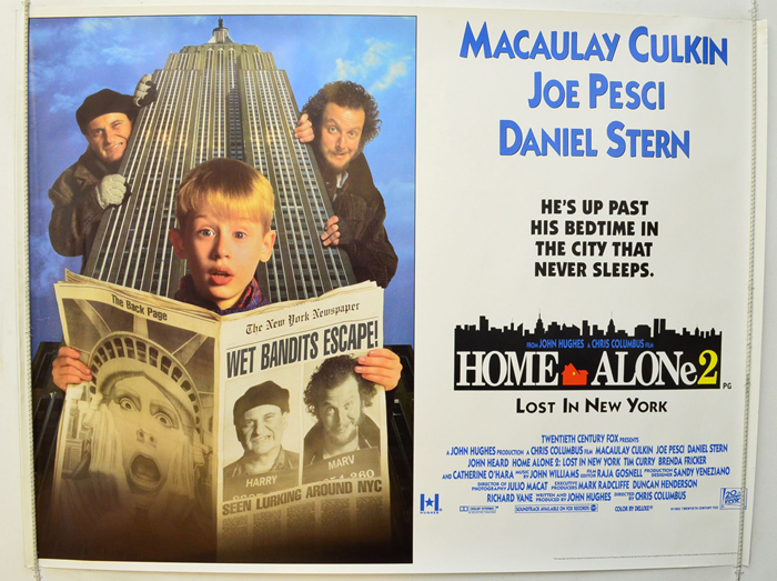 Home Alone 2 Lost In New York Original Cinema Movie Poster From