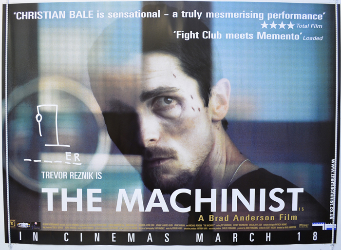 Machinist (The) - Original Cinema Movie Poster From pastposters ...