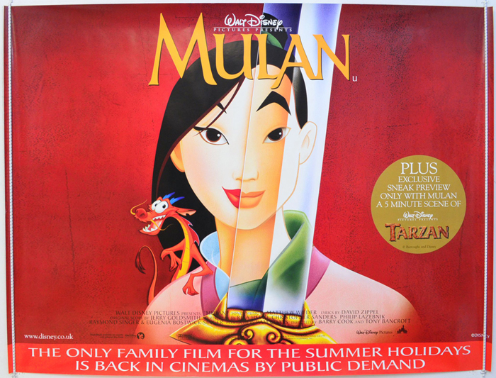 Movie Posters 1999: Mulan (1999 Re-release Version)