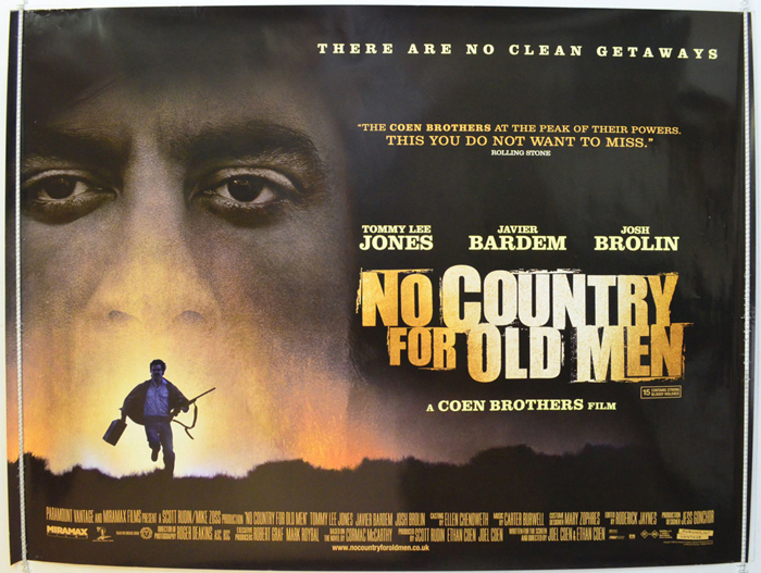 No Country For Old Men - Original Cinema Movie Poster From pastposters.com  British Quad Posters and US 1-Sheet Posters