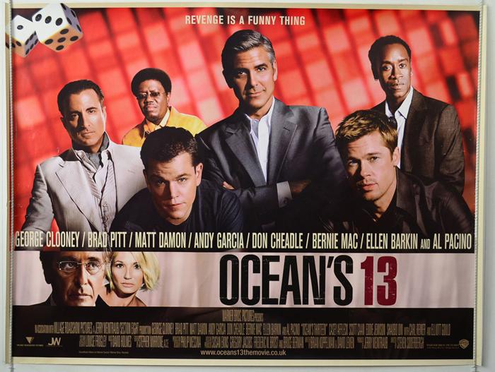 Ocean's 13 - Original Cinema Movie Poster From pastposters.com ...