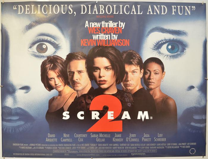 Scream 2 - Original Cinema Movie Poster From pastposters.com ...