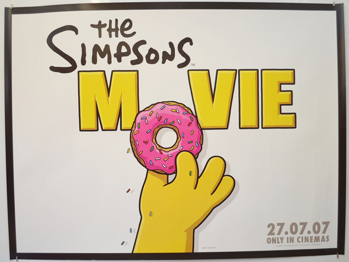 Simpsons Movie The P I Teaser Advance Donut Version I P Original Cinema Movie Poster From Pastposters Com British Quad Posters And Us 1 Sheet Posters
