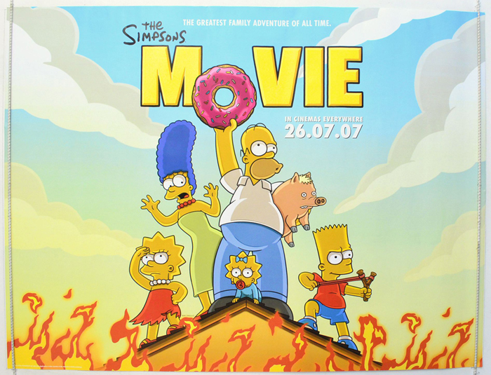 Simpsons Movie The P I Teaser Advance Version I P Original Cinema Movie Poster From Pastposters Com British Quad Posters And Us 1 Sheet Posters