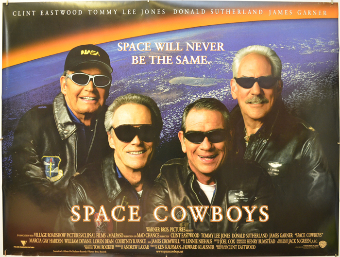 Space Cowboys Original Cinema Movie Poster From Pastposters Com British Quad Posters And Us 1 Sheet Posters