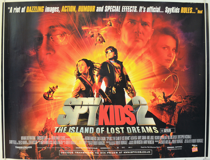 Spy Kids 2 - Island Of Lost Dreams - Original Cinema Movie Poster ...
