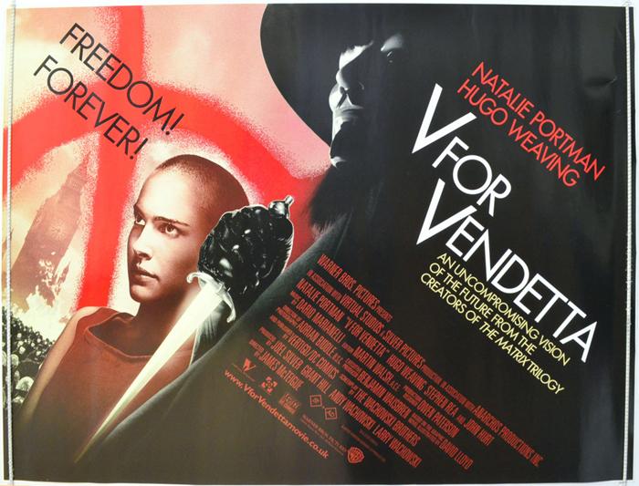 V For Vendetta Original Cinema Movie Poster From Pastposters Com
