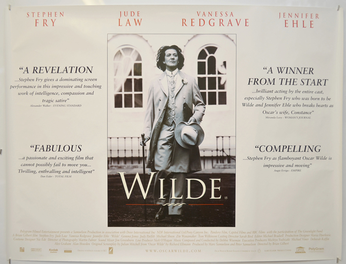 Wilde - Original Cinema Movie Poster From pastposters.com British Quad  Posters and US 1-Sheet Posters