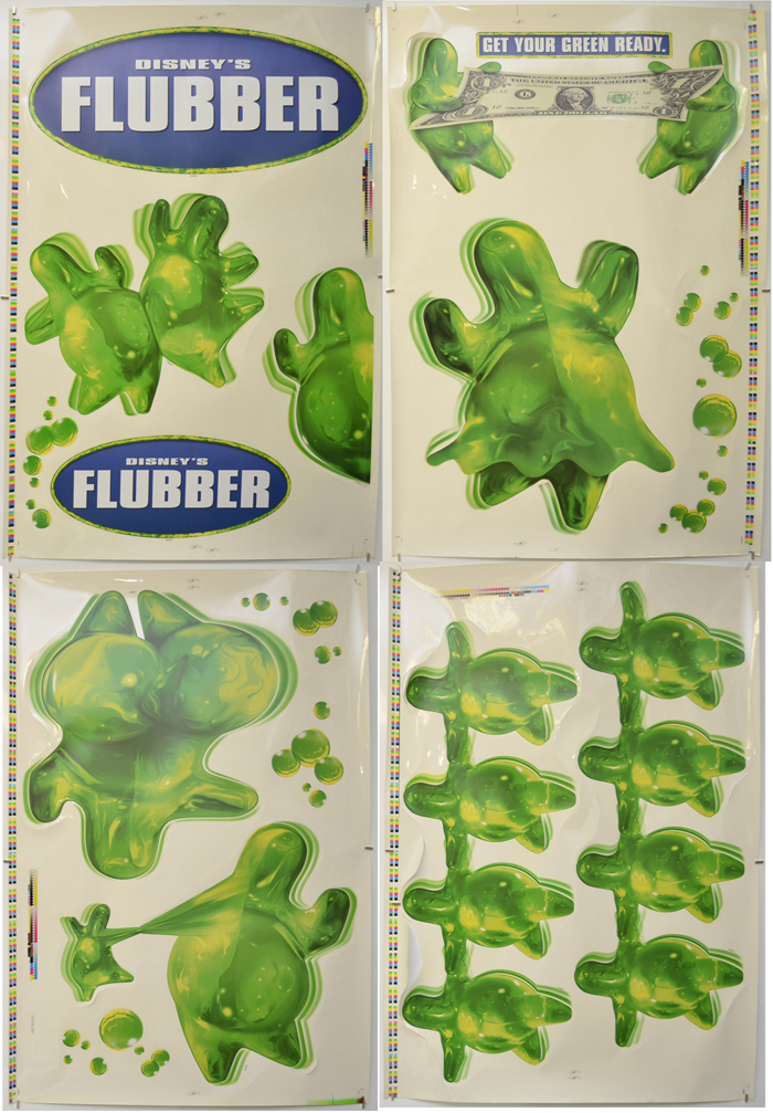 Flubber <p><i> (Set of Cinema Window Clings) </i></p>
