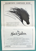 The Black Stallion - Press Book - Front