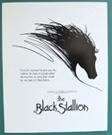 The Black Stallion - Synopsis - Front