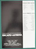 Escape To Athena - Press Book - Front