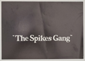 The Spikes Gang - Synopsis Leaflet - front