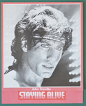 Staying Alive <p><i> Original Cinema Synopsis / Credits Leaflet  </i></P>