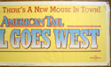 AN AMERICAN TAIL : FIEVEL GOES WEST Cinema BANNER Right