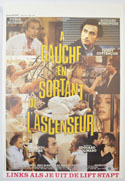 A Gauche En Sortant De L'ascenseur <p><i> (Original Belgian Movie Poster) </i></p>