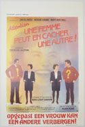 Attention Une Femme Peut En Cacher Une Autre! <p><i> (Original Belgian Movie Poster) </i></p>