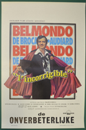 L'Incorrigible <p><i> (Original Belgian Movie Poster) </i></p>