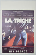 La triche <p><i> (Original Belgian Movie Poster) </i></p>