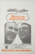 Plus Ca Va, Moins Ca Va <p><i> (Original Belgian Movie Poster) </i></p>