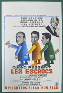Quand Passent Les Escrocs <p><i> (Original Belgian Movie Poster) </i></p>