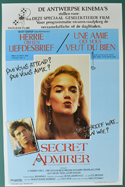 Secret Admirer <p><i> (Original Belgian Movie Poster) </i></p>
